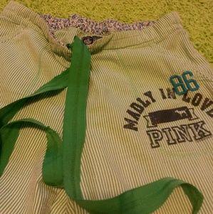 Pink victoria's secret cropped pj pants